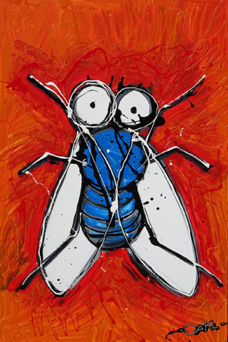 Painting of a fly
