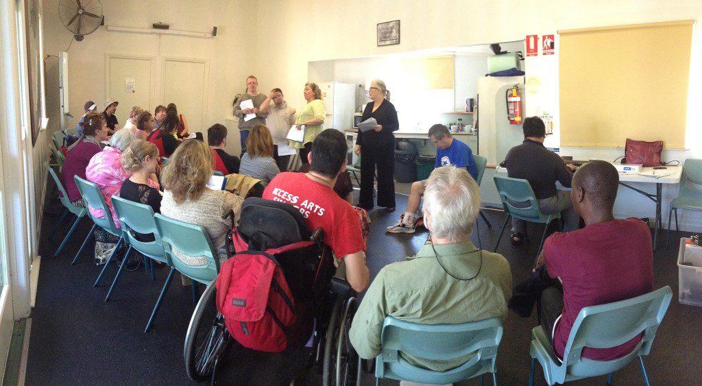 Access Arts Singers workshop photo