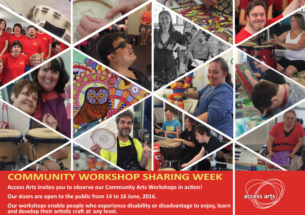 Sharing Week Flyer showing various workshop activities