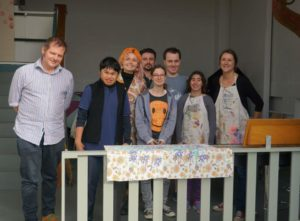 Members of the Art for Art's Sake Collective - Freya Toussaint, second right