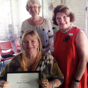 Access Arts Chief Executive Pat Swell, Central Ward Councillor Vicki Howard, Access Arts Achievement Award recipient Carol Taylor