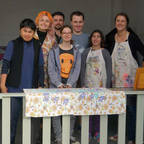 Freya Toussaint, front row, second right, with the other artists who make up Art for Art's Sake