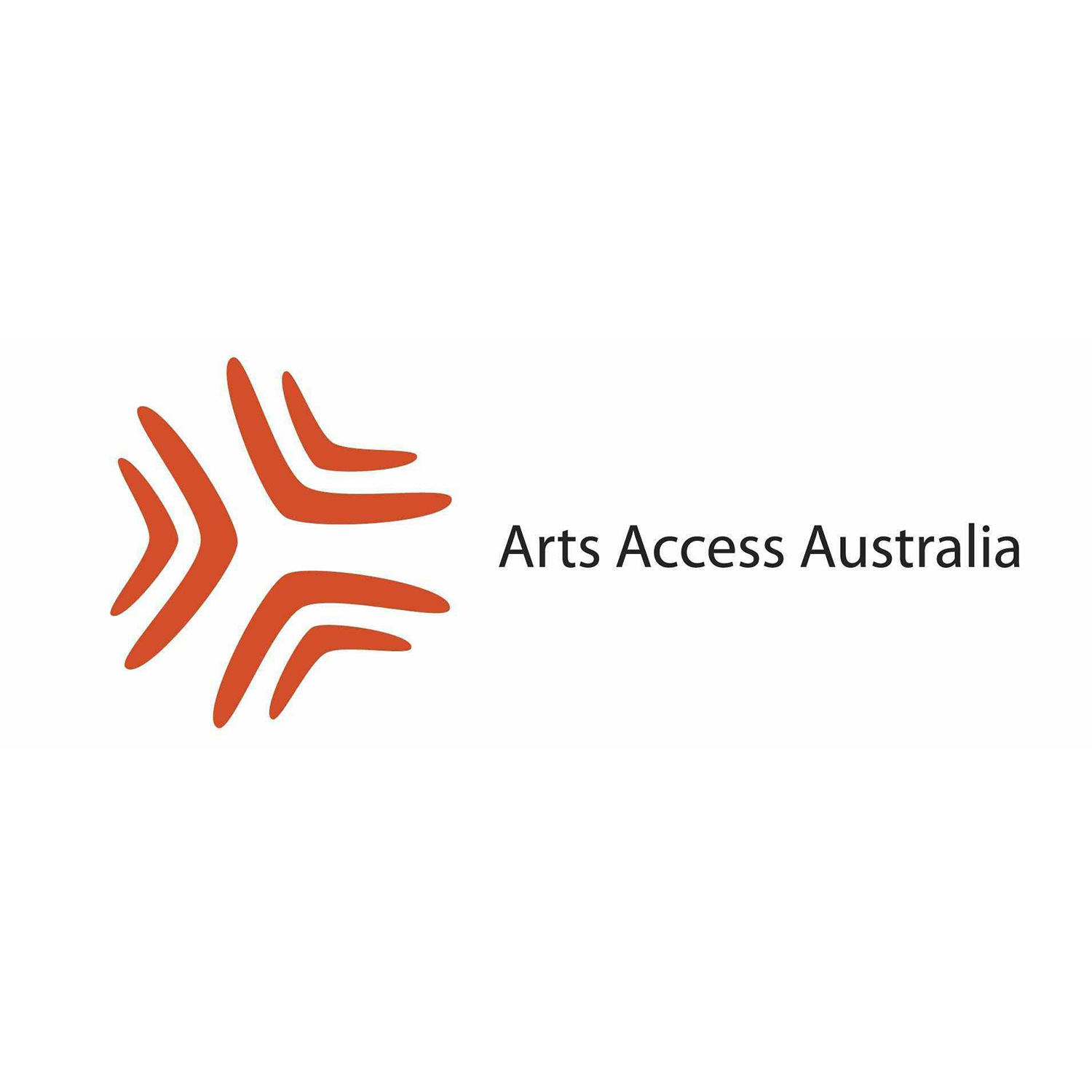 Arts Access Australia logo on a white background