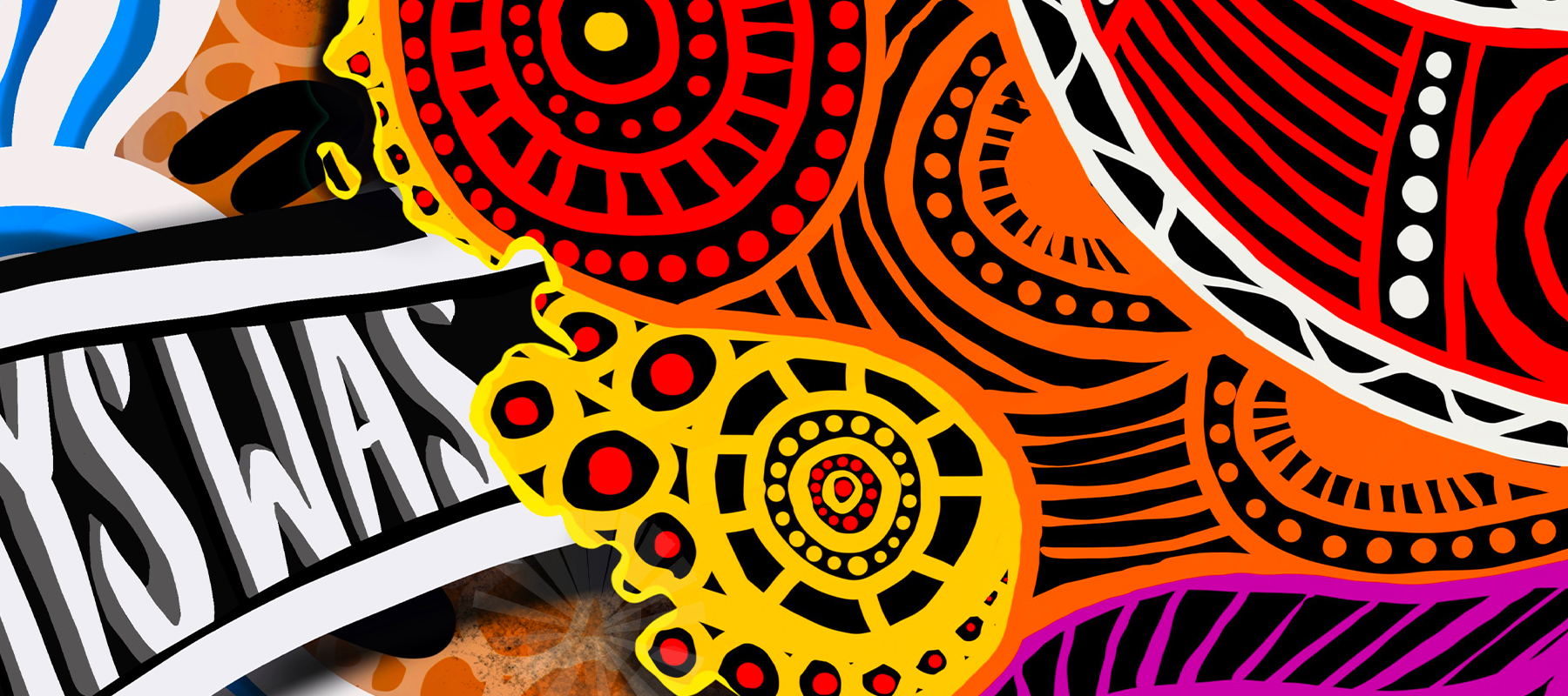 A section of an Indigenous artwork by Murri Art (Luke Duffy)