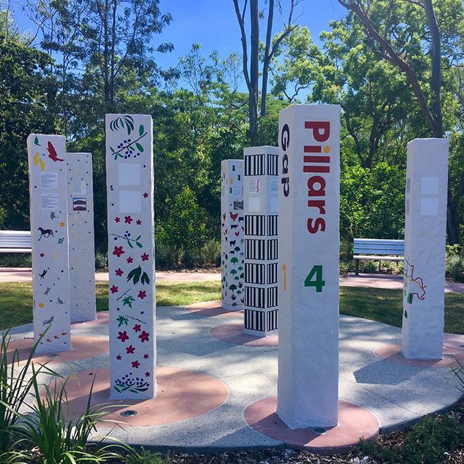Pillar sculptures