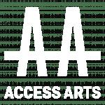 Access Arts Logo White